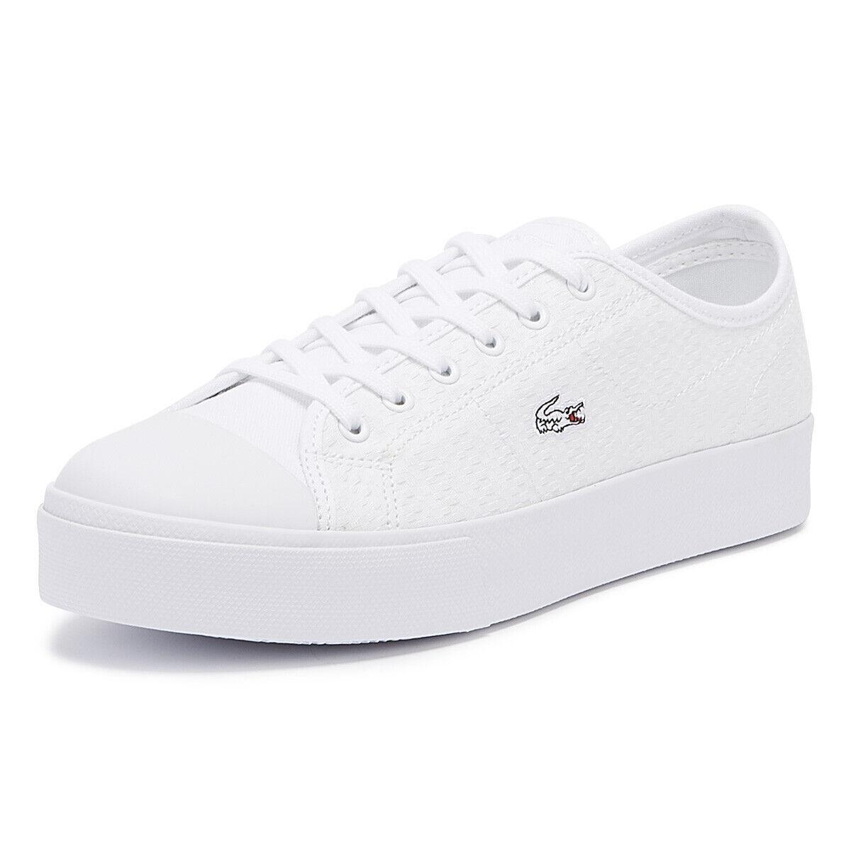 Lacoste Ziane Plus Grand 119 2 para Mujer blancooo Zapatillas Con Cordones Casual Zapatos De Las Señoras
