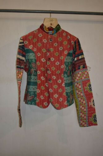 Reversible Kantha Jacket, Hand Quilted Jacket, Qui