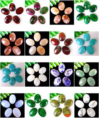 5Pcs//6PcsMultiple Choice Mixed Gemstone Agate Oval Cab Cabochon 20x15x6mm AE5042