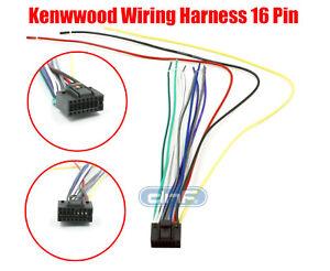 Kenwood Wiring Harness 16 Pin Kdc 138 Kdc 215s Kdc 217 Ships Today Ebay