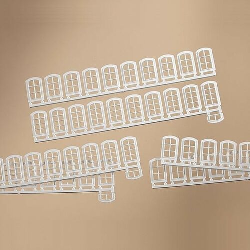 H0 // 1:87 // 1:100 63 Stück Auhagen 80200 0,07€//Stück Weiße Fenster