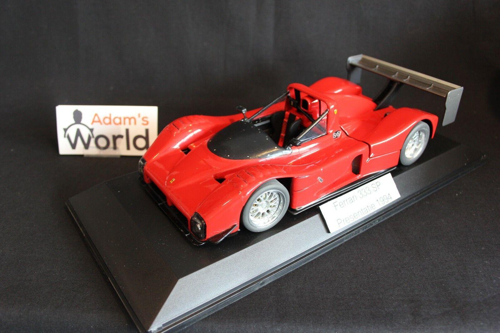 Hot Wheels transkit Ferrari 333 SP 1994 1 18 presentation 1994 version (PJBB)