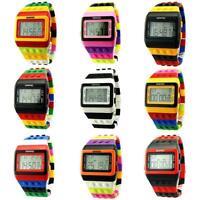 New Unisex Womens Mens Fashion Sports Colorful Digital Waterproof Wrist Watch