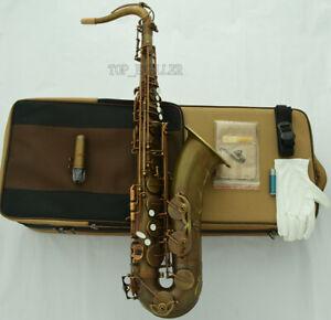 Professional-brown-Antique-Tenor-Saxophone-VI-Model-Sax-With-Case