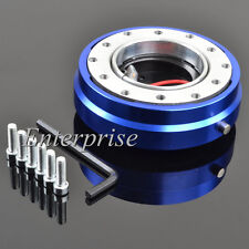 Blue Short Quick Release Hub Snap Off Boss Kit For Nissan Toyota Steering Wheel
