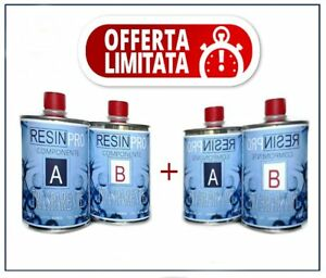 2-Packs-of-Resin-Epoxy-Clear-Gr-800-Two-Component-totale-1-6-Kg