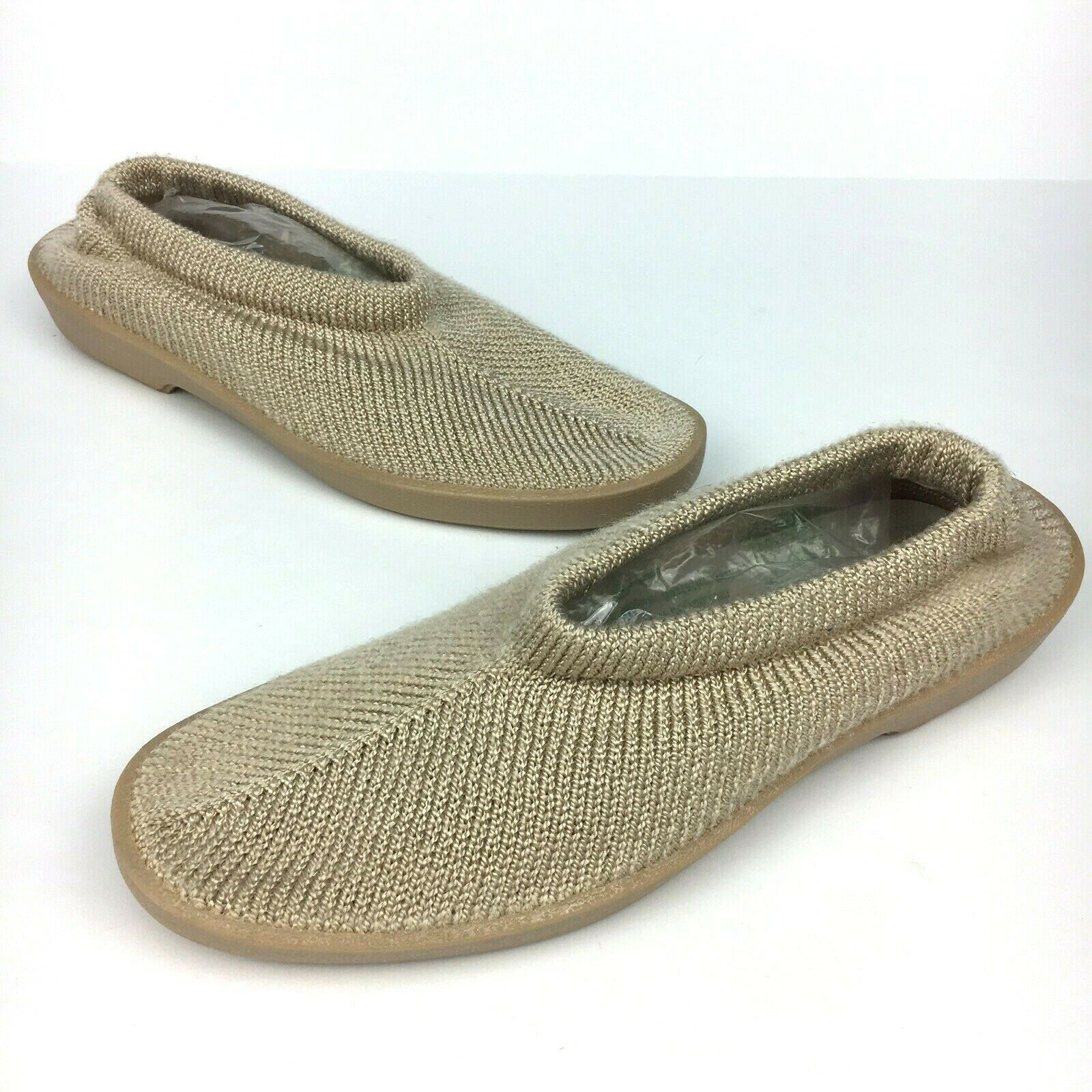 Arcopedico New Sec Slip On shoes EUR Size 42 Womens 10.5 Beige Knit Mesh