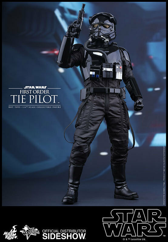 HOT TOYS Star Wars VI Force Awakens FIRST ORDER TIE PILOT 12