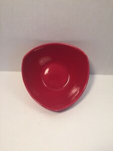 Pier-1-Red-Triangle-Shaped-Ironstone-Cereal-Soup-Salad-Bowl-New