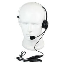 Call Center Monaural Office Phone Headset+ Coiled Cable RJ9 Plug for Avaya ROLM