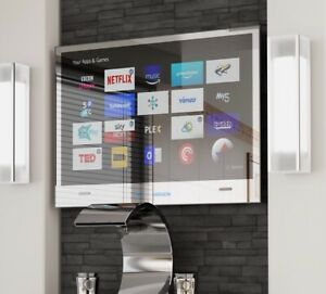 Details About 19 2019 Waterproof Bathroom Led Mirror Full Smart Android Tv Wifi Ethernet