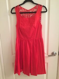 Image Is Loading Anthropologie Moulinette Soeurs Sleeveless Red Dress Lace Back