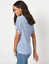New-Ladies-Ex-George-Plus-Size-Tie-Knot-V-Neck-Front-Linen-Look-Top-Blouse thumbnail 10
