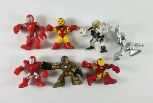Marvel-Super-Hero-Squad-Action-Figures-Avengers-Lot-6-Iron-Man-and-Silver-Surfer