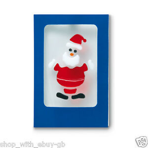 Pack-of-12-Christmas-Gel-Sticker-Cards-and-Envelopes-Cute-Santa-Claus-Decor-Gift