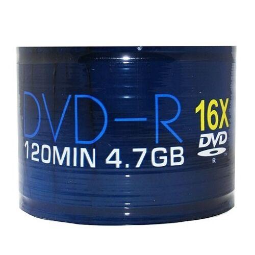 PACK OF 50 x BLANK DISCS DVD-R DVD DISKS RECORD MOVIES FILMS 4.7 GB 120 MINS 16X