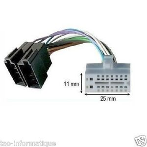 Cable adaptateur ISO autoradio CLARION DB238R DB338R DB338RB DB348RMP