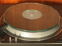 Glass Crystal Turntable Direct Mat Platter Audiophile Grade Audio 6mm Thick