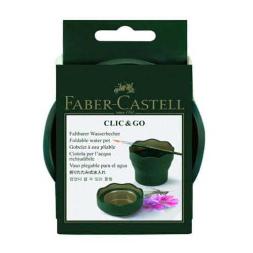 FABER-CASTELL Wasserbecher CLIC/&GO grün