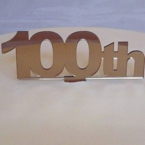 100th Birthday Cake Topper Mirrored Bronze