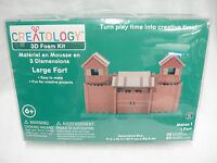 Creatology 3d Large Fort Foam Building Kit 55 Shapes 29 Stickers Ages 6+
