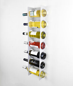 Image Is Loading Wall Cabinet Mounted Steel Narrow Wine Rack 7