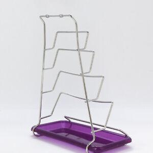 Stainless-Steel-Cupboard-Saucepans-Pan-Lid-Rack-Holder-4-Lids-Stable-DeskHolder