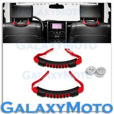 07-16 Jeep JK Wrangler RED Nylon Rear Side Grab Handle 1 Pair Windshield Pillar
