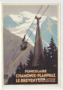 CP Poster Chemins Iron CONDITION P. L.M.Chamonix Planpraz Edit Clouet 10080