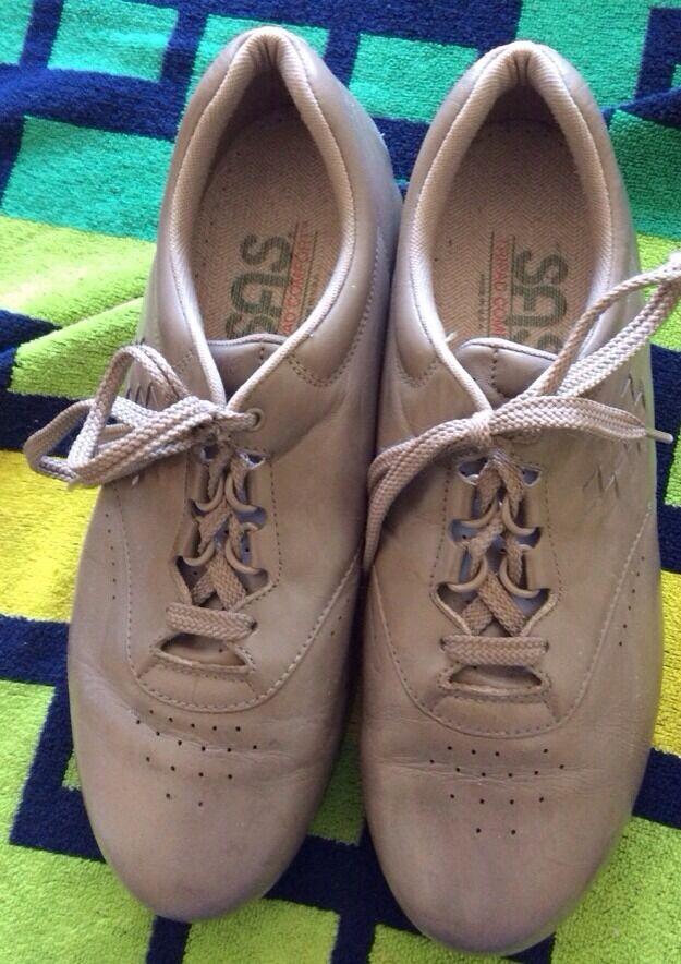 SAS Free Time Mocha Lace Up Tripad Comfort Walking Oxfords Womens 9.5M