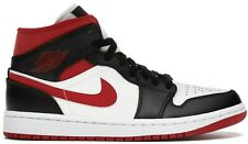Air Jordan 1 Mid Gimnasio Rojo Negro Blanco del dedo del pie 554724-122