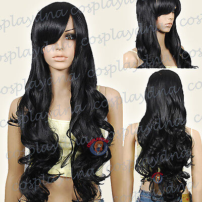 33 inch Hi_Temp Series Chestnut Brown Curly wavy Long Cosplay DNA Wigs 96704A