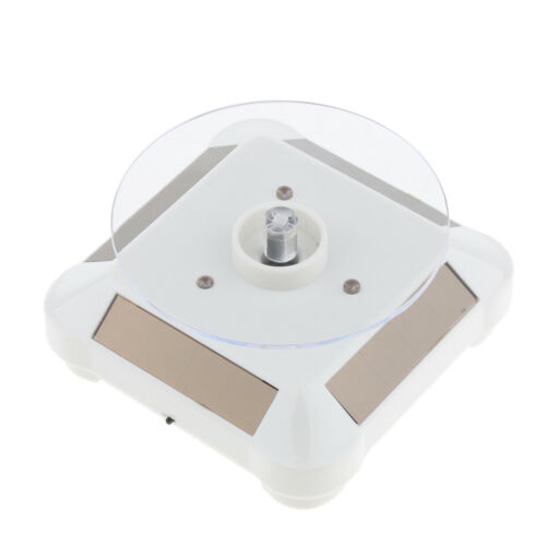 Solar Powered 360 Degree Rotary Display Stand Lights Low Power Consumption