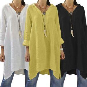 ZANZEA-Women-Mini-Short-Dress-Top-T-Shirt-Tee-Basic-Solid-Plus-Size-Tunic-Blouse