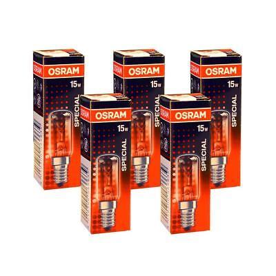5x Osram Glühbirne Kühlschrank 15W E14 klar Röhre Special T16//54 Glühbirnen Tube