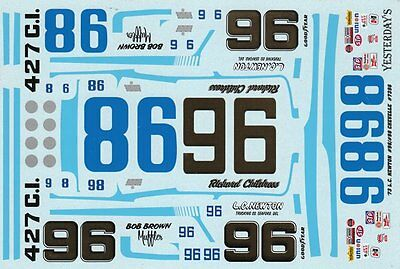 #96 98 Richard Childress L.C 1//25th Scale Decals Newton Chevy 1973 1//24th