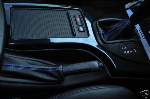 FITS BMW X5 LEATHER HANDBRAKE /& AUTO GEAR GAITER L BLUE ST