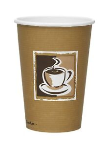1000 8OZ PRINTED EXECUTIVE HOT TEA OR COFFEE PAPER CUPS
