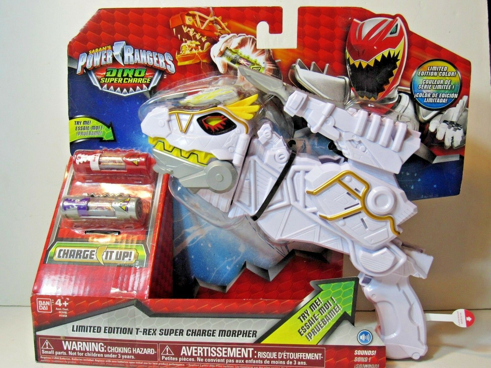 Power Rangers Dino Supercharge Limited White T-Rex Super Charge Morpher Morpher Morpher MISP 19a00e