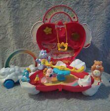 Care Bears Vintage Lot Care-A-Lot playset, cloud racer, & figures!!! LOOK!!!