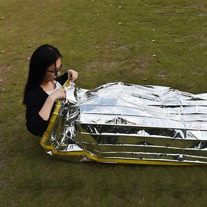 Emergency-Survival-Outdoor-Kit-Rescue-Thermal-Space-Sleeping-Bag-Blanket-SP