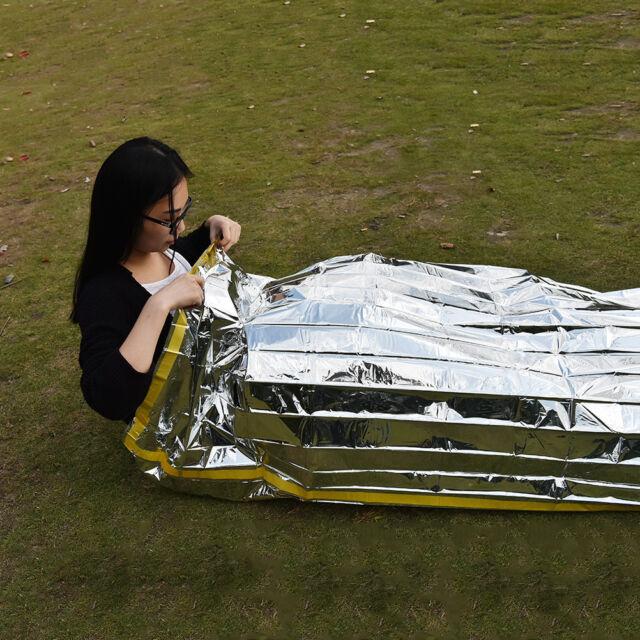 Emergency Survival Outdoor Kit Rescue Thermal Space Sleeping Bag Blanket HB
