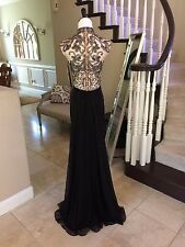 $460 NWT BLACK JVN BY JOVANI PROM/PAGEANT/FORMAL DRESS/GOWN #27497 SIZE 6