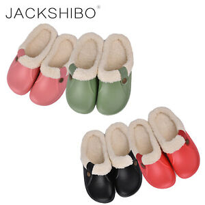 Womens-Winter-Cozy-Slippers-Indoor-Boots-Fur-Lined-Warm-Home-Shoes-Soft-Slip-on
