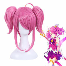 LOL the Lady of Luminosity Lux Star Guardian with Ponytails Pink Cosplay Wig