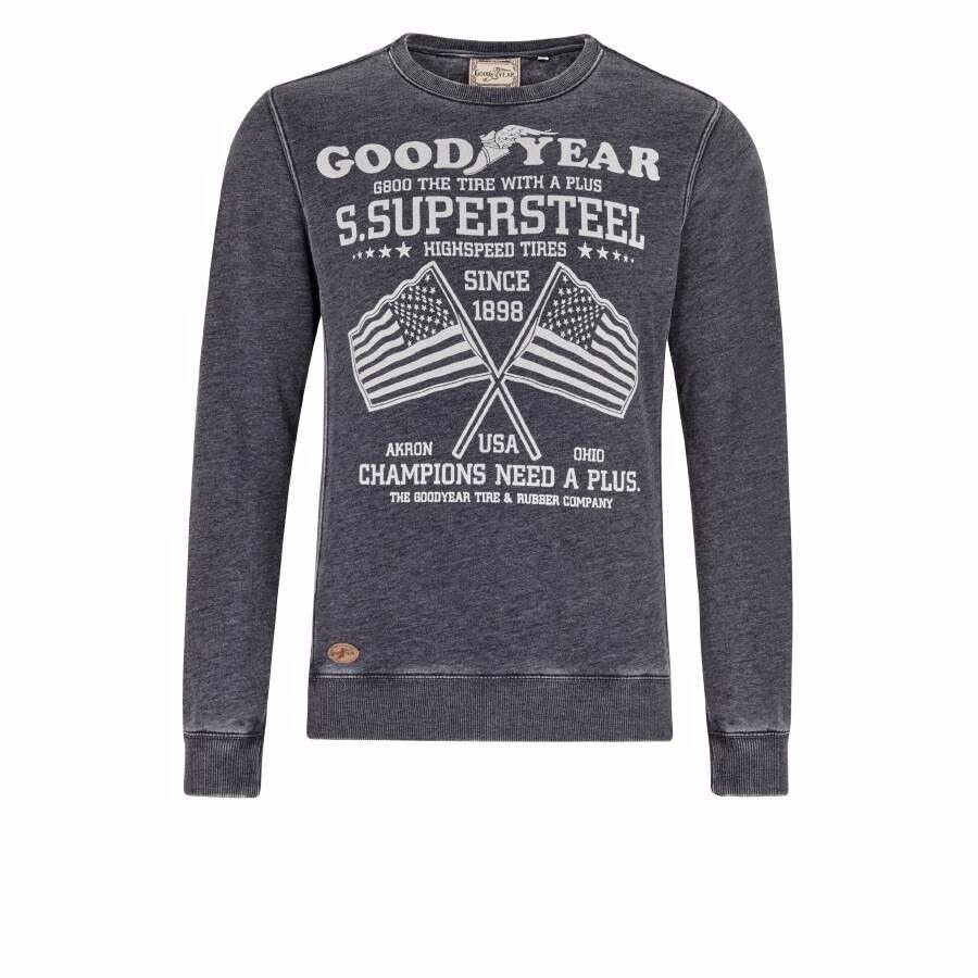 Goodyear Ceylon Men Crewneck Sweatshirt Marl Ash grau aschgrau