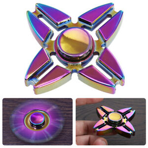 Rainbow-EDC-Fidget-Hand-Spinner-Alloy-Finger-Focus-ADHD-Autism-Kids-Toy-Gyr-UK