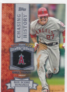 Details About Mike Trout Chasing History Topps Insert Baseball Card Anaheim Angels Superstar