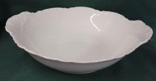"""Haviland RANSON WHITE 10-1/4"""" Handled Round Vegetable Bowl Best!"""
