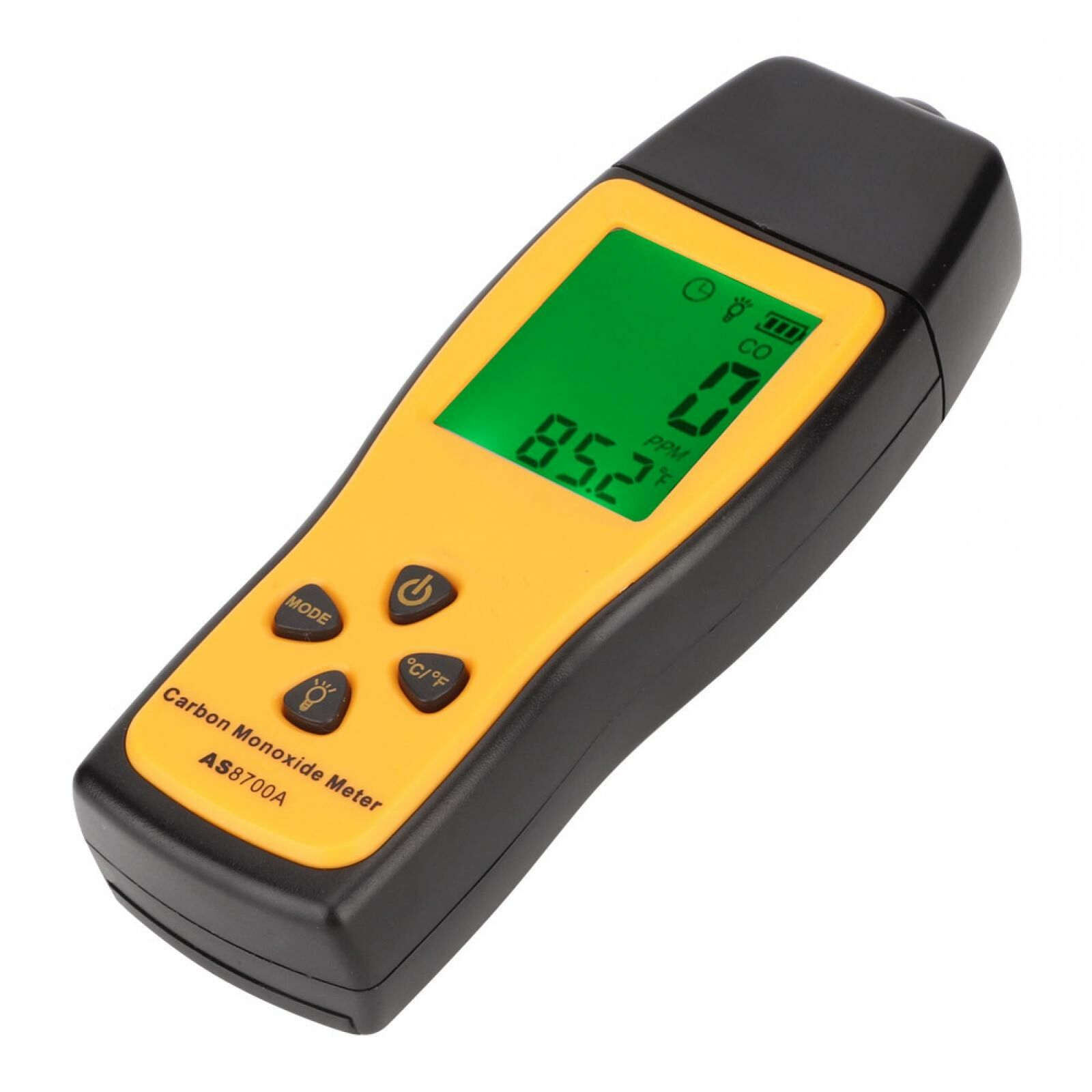 Carbon Monoxide Meter,Handheld CO Detector,Portable CO Gas Leak Detector LCD Display Sound and Light Alarm 0~1000ppm High Precision Detector Gas Analyzer